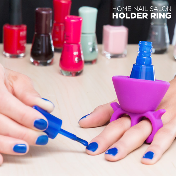 InnovaGoods Anello-Supporto per Smalto per Unghie Home Nail Salon
