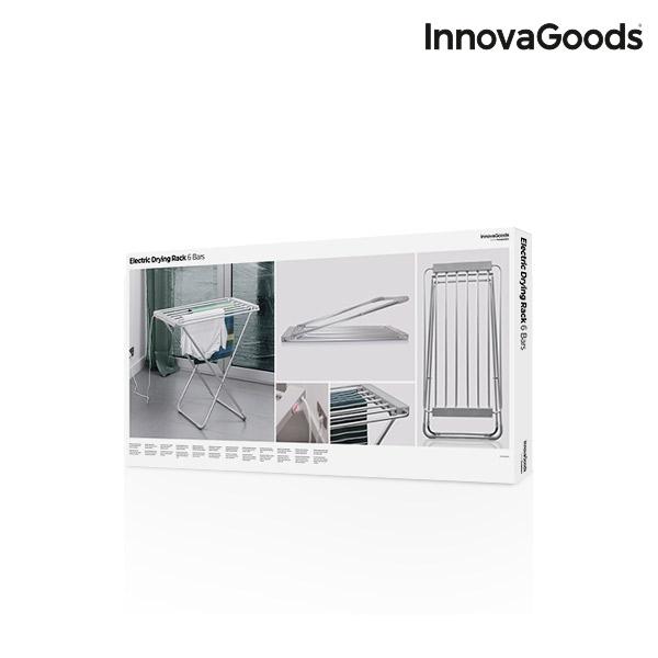 Étendoir à Linge Électrique Pliable InnovaGoods 100W Gris (6 Barres)