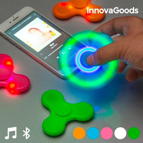 LED Pörgettyű Hangszóróval és Bluetooth-al |Rózsaszín -