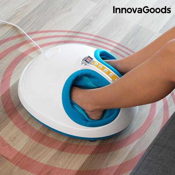 InnovaGoods 45W Fehér Kék Melegítő Presszoterápiás Lábmasszírozó