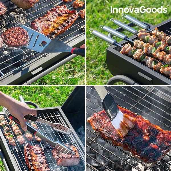 Mallette Professionnelle d'Ustensiles de Barbecue InnovaGoods (11 pièces)
