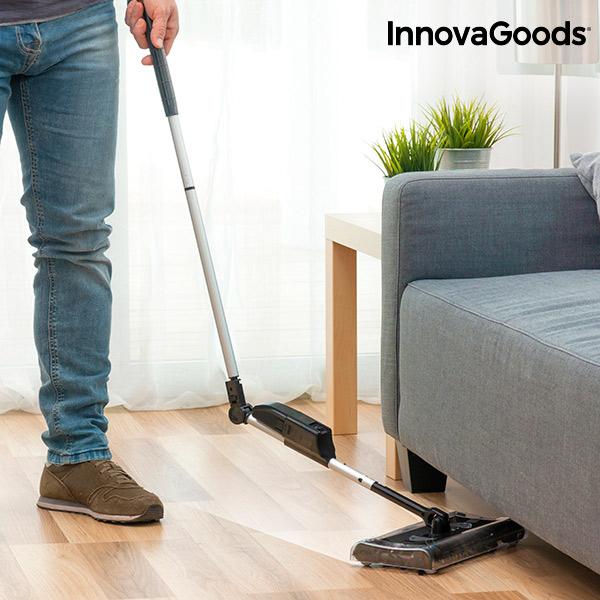 InnovaGoods Rectangular Electric Broom 7.2 V 700 mAh Black Grey