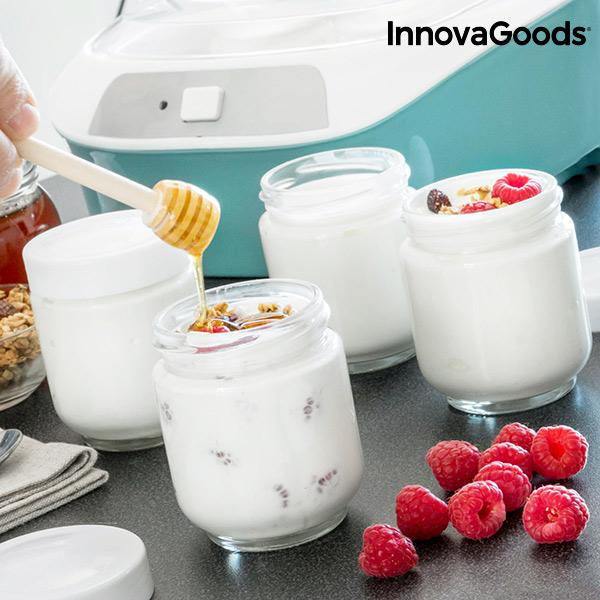 InnovaGoods Vintage Joghurtkészítő 6 Edénnyel 1 L 20W Fehér Türkiz