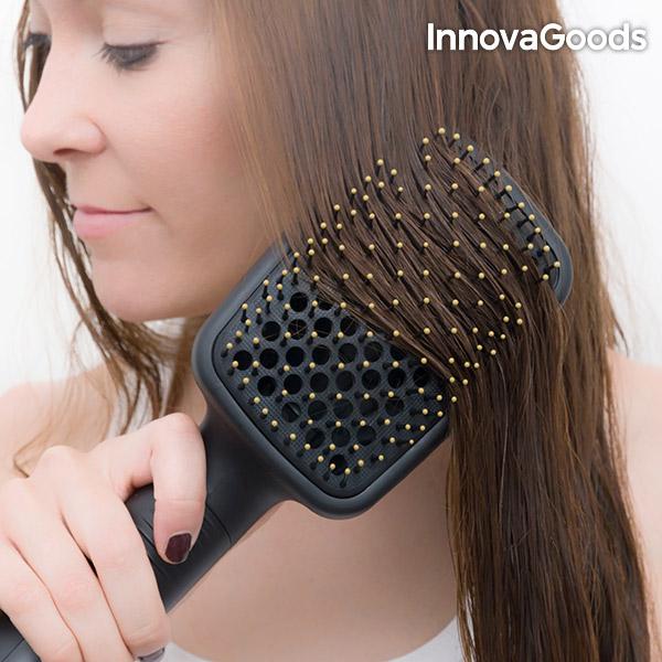 InnovaGoods Elektromos Szárító és Egyenesítő Hajkefe 1000W Fekete Arany