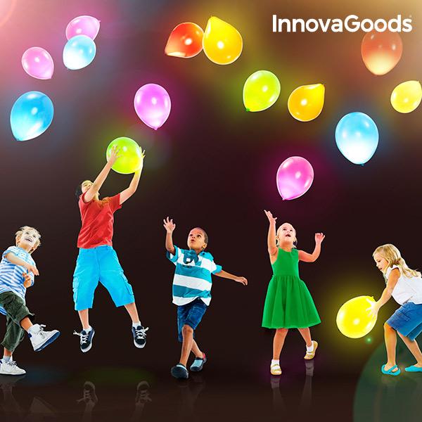 Baloni z LED Lučkami InnovaGoods (10 Kosov)