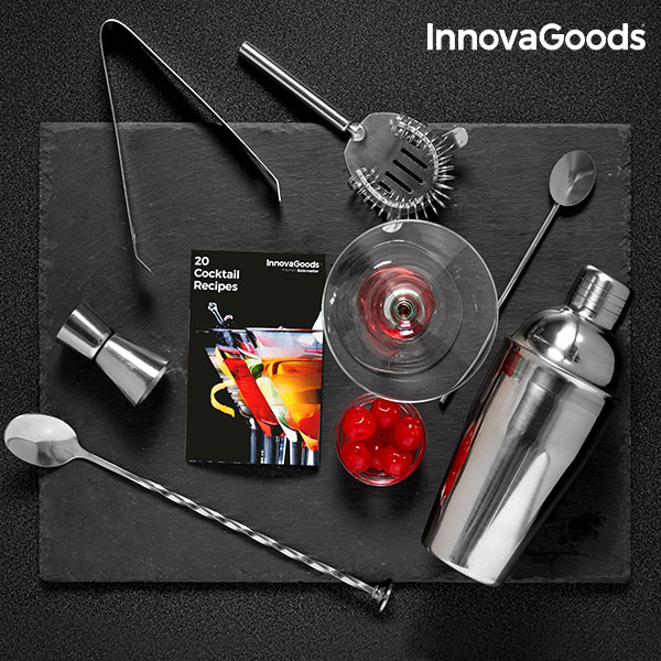 InnovaGoods Koktél Készlet Receptkönyvvel (6 darab)