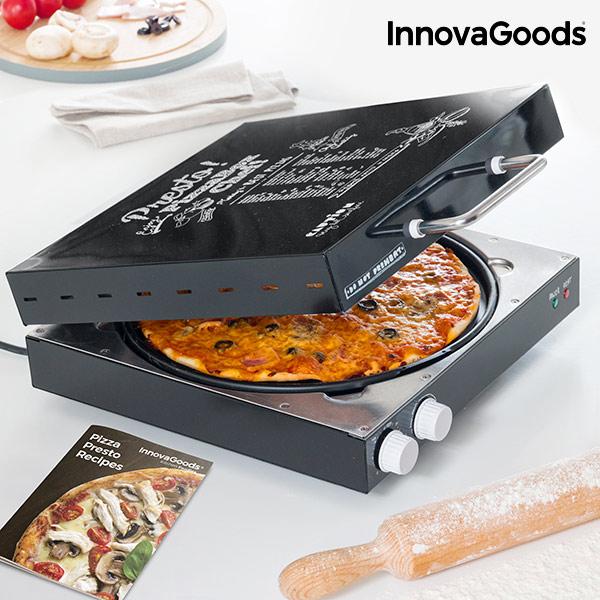 Appareil à Pizza Électrique avec Livre de Recettes Presto! InnovaGoods 1200W Noir