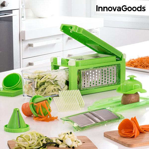 Coupe et Râpe Légumes 8 en 1 avec Livre de Recettes InnovaGoods