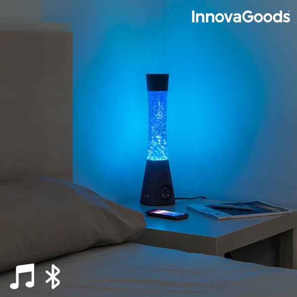 LED Láva Lámpa Bluetooth Hangszóróval és Mikrofonnal 30W