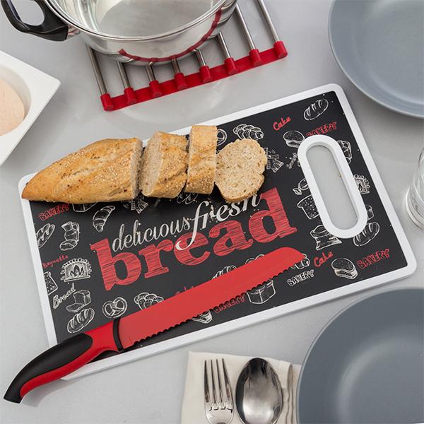 Bread Vágódeszka Késsel