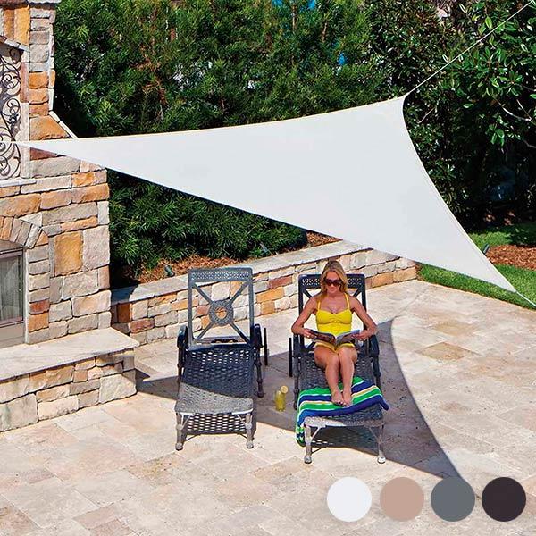 Trojuholníková Slnečná Plachta (3,6 metrov)  Biela
