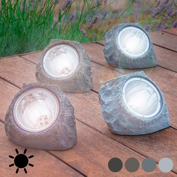 Mesterséges Napelemes Kő (4 LED)