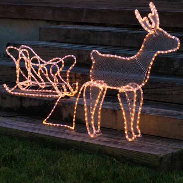 Karácsonyi Szarvas Szánnal (504 LED)