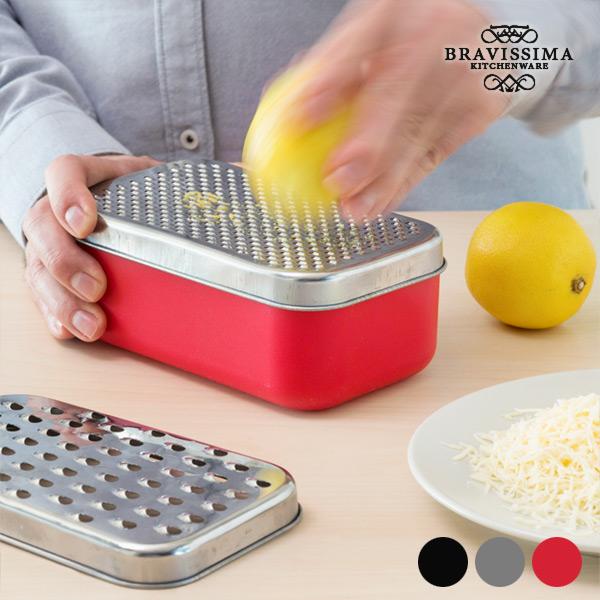 Bravissima Kitchen 2 az 1-ben reszelő tároló dobozzal (4 részes)