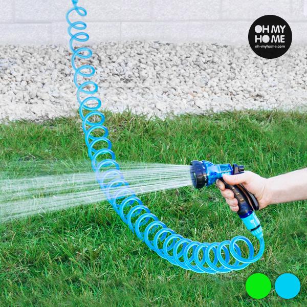 Spiralna Cev za Zalivanje z Razpršilno Pištolo Oh My Home - Modra