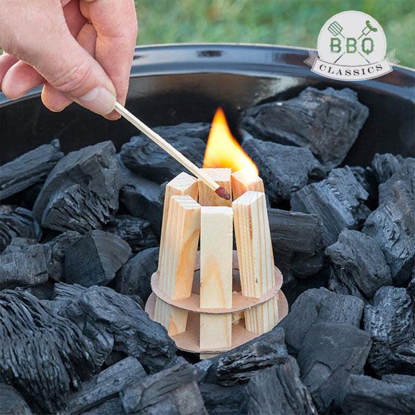 BBQ Classics Accendifuoco di Legno per Barbecue BBQ Classics