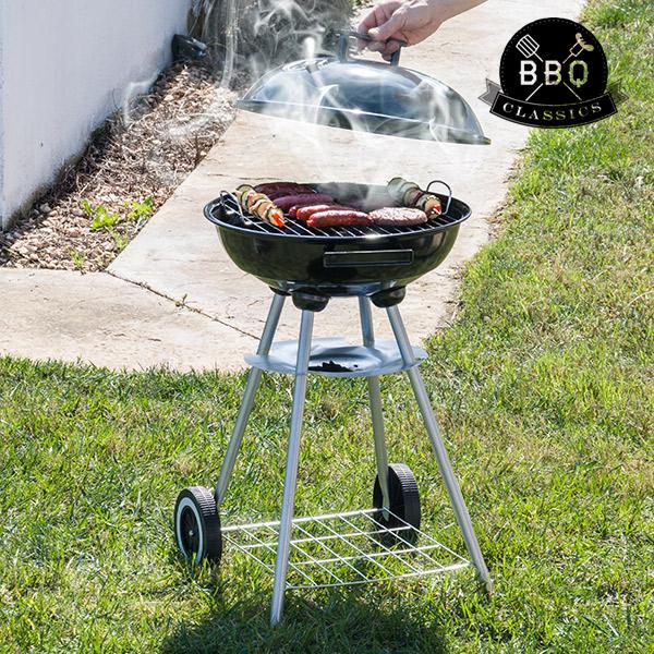 Barbecue a Carbone con Coperchio e Ruote BBQ Classics 7569000773336  02_V0201000