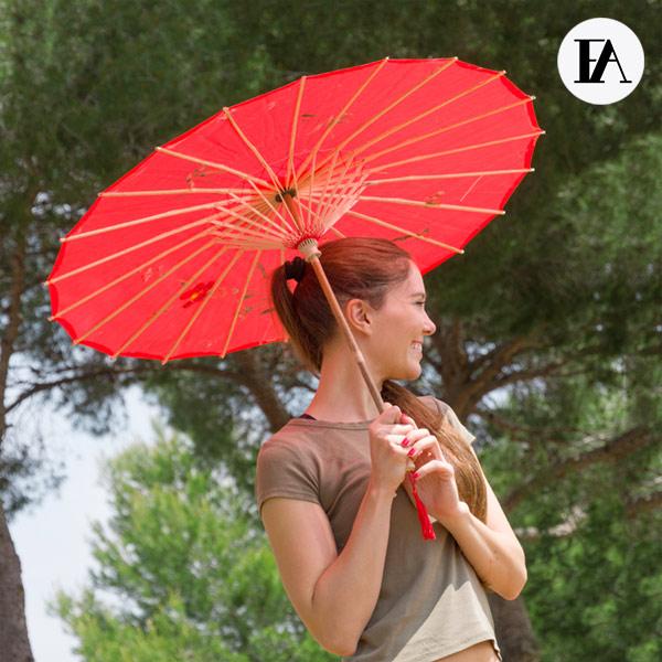 Paraguas de Bambú Flowers Fashinalizer