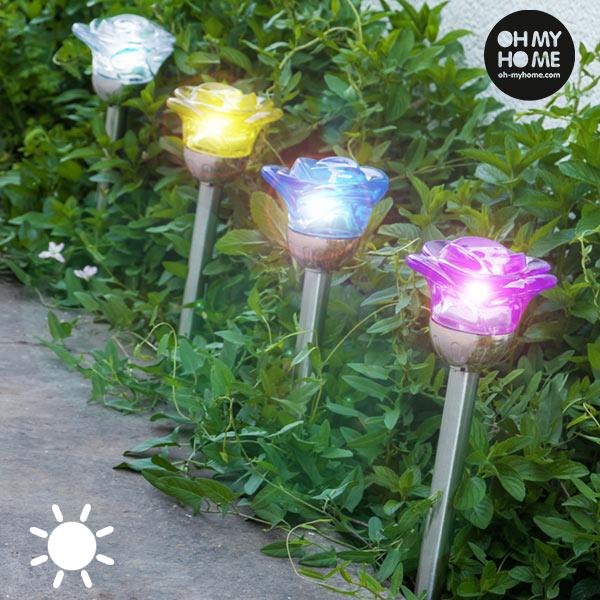 Lámpara Solar Flower Oh My Home (1)