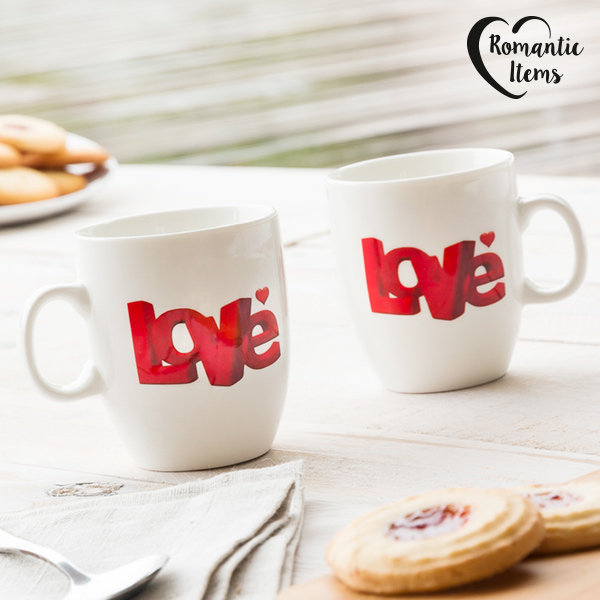 Romantic Items Love Bögrék (2 darab)