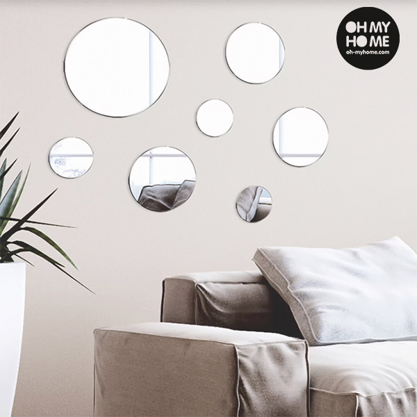 Ogledala z Nalepkami Geometry Oh My Home (paket 7 kosov)