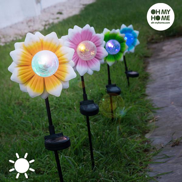 Oh My Home Színes LED Napelemes Virág