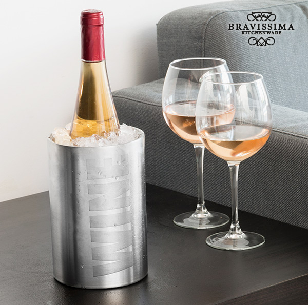 Bravissima Kitchen Inox Wine Palackhűtő
