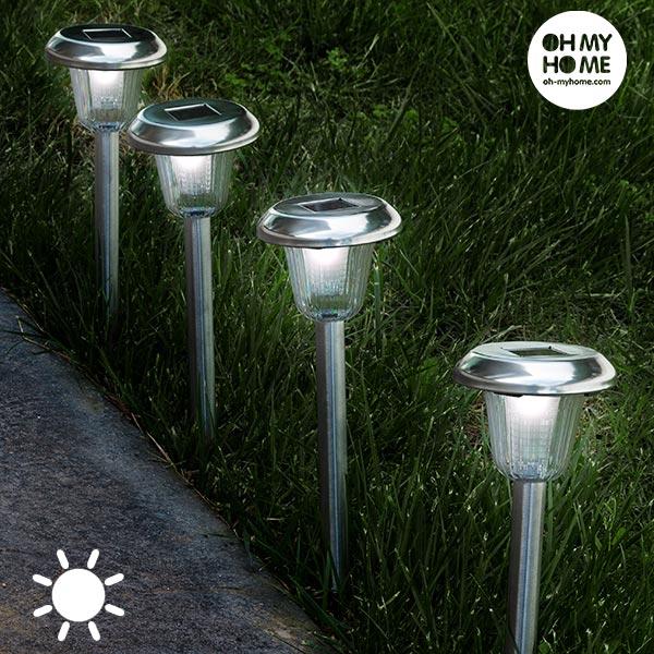 Oh My Home Fáklya Kerek Napelemes Lámpa (4 darab)