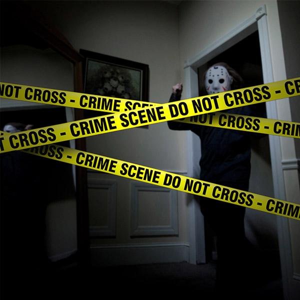 Do Not Cross Crime Scene Szalag