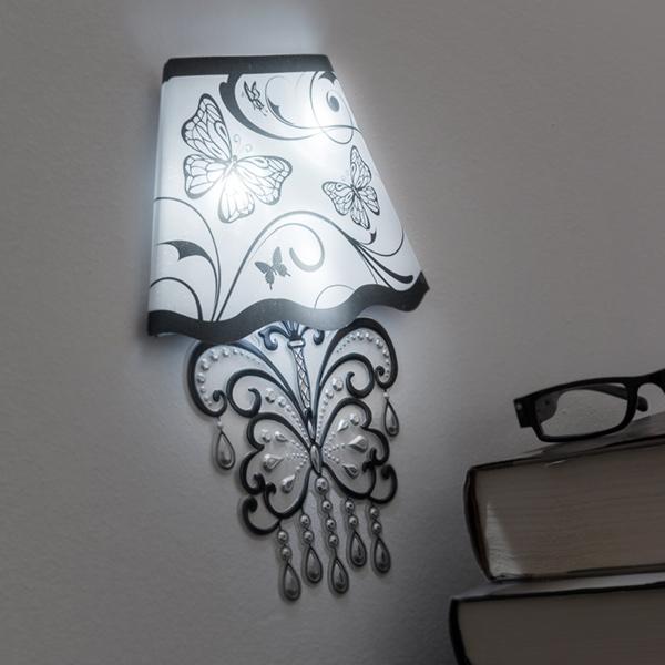 Adesivo da Pareti con LED Butterfly 7569000770304  02_V0300328