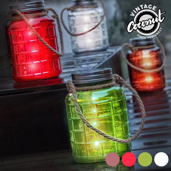 Barattolo Decorativo in Vetro con LED Grange Vintage Coconut 7569000774586  02_V0300392