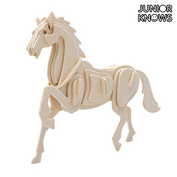 Kmetija Junior Knows 3D Wooden Animals Puzzle