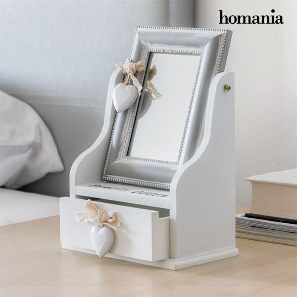 Homania Queen Fa Tükrös és Fiókos Ékszertartó Doboz