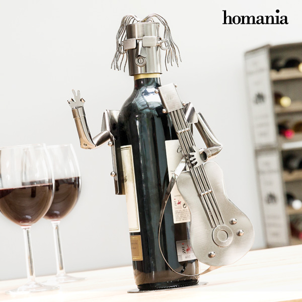 Portabottiglia in Metallo Chitarrista by Homania 7569000782567  02_V0300544