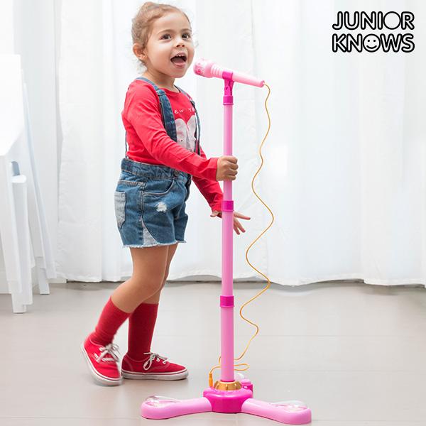 Junior Knows Álló Mikrofon LED-del és MP3- vagy Mobilcsatalkozással