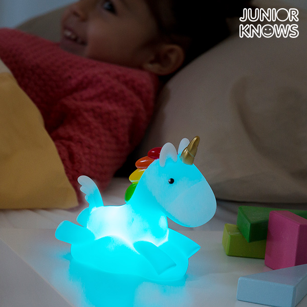 Večbarvna LED Nočna Lučka Samorog Junior Knows