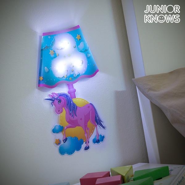 Junior Knows Adesivo da Parete LED Unicorno Junior Knows