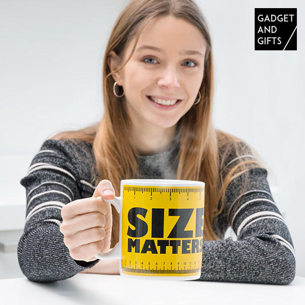Gadget and Gifts Size Matters XXL Bögre