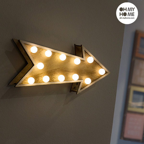Oh My Home Fa Dekoratív Nyíl (12 LED)