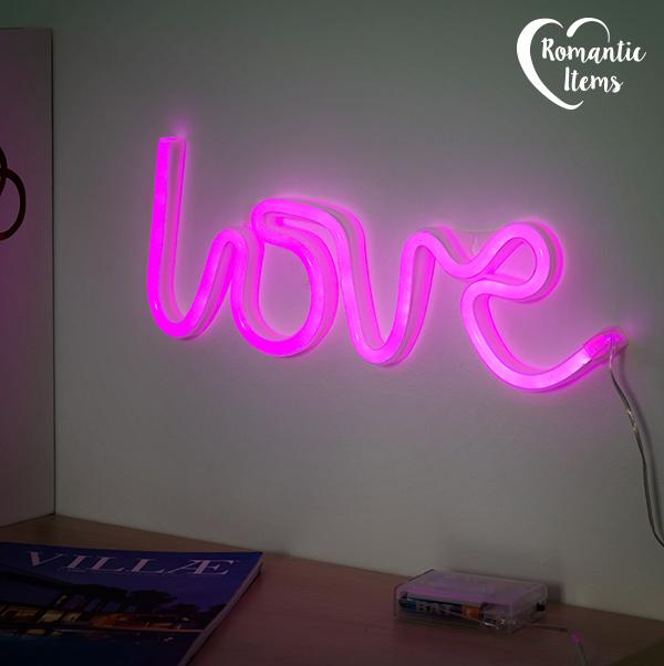 Romantic Items Love Neon Tábla