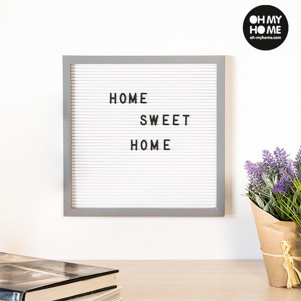 Oh My Home Képkeret Betűkkel és Számokkal (30 x 30 cm)