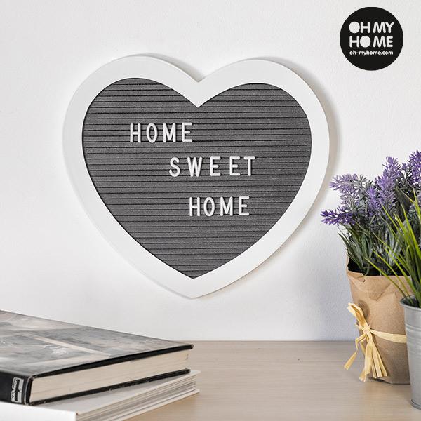 Oh My Home Szív Képkeret Betűkkel és Számokkal