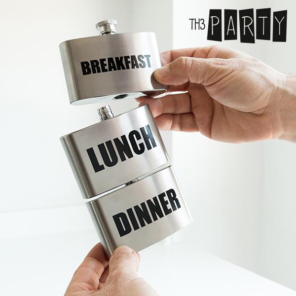 Th3 Party Reggeli-Ebéd-Vacsora Fém Flaska