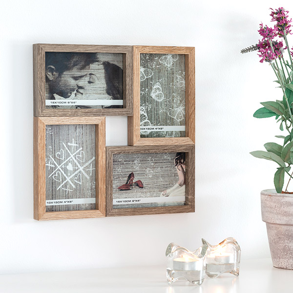 Old Style Wooden Photo Frame (4 Photos)