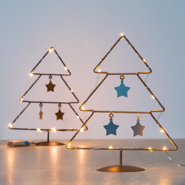 Karácsonyfa Csillagokkal (10 LED)