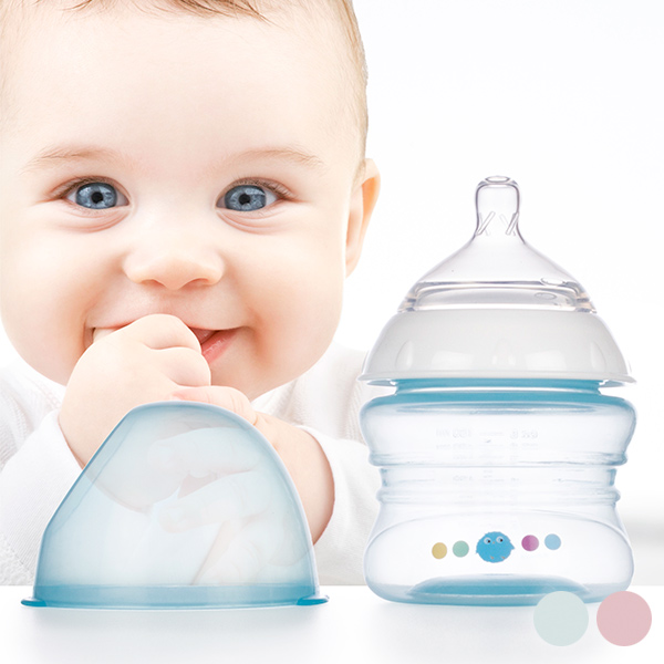 Otroška Steklenička Počasnega Pretoka 150 ml - Modra