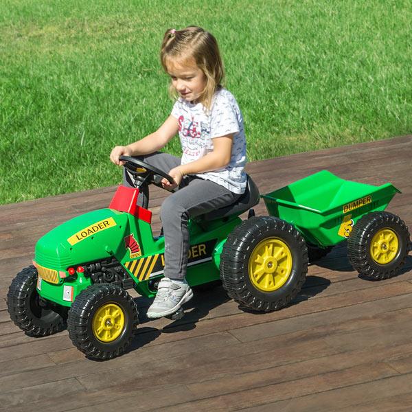 Játék Traktor Utánfutóval és Pedálokkal