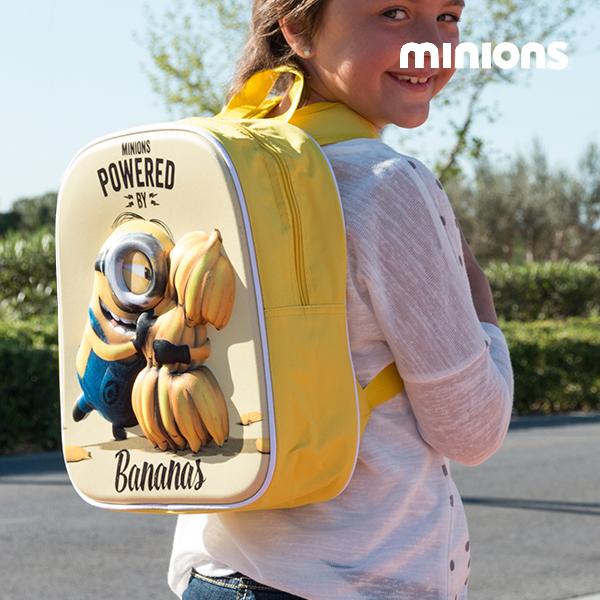 Sac à dos scolaire 3D Minion Bananas