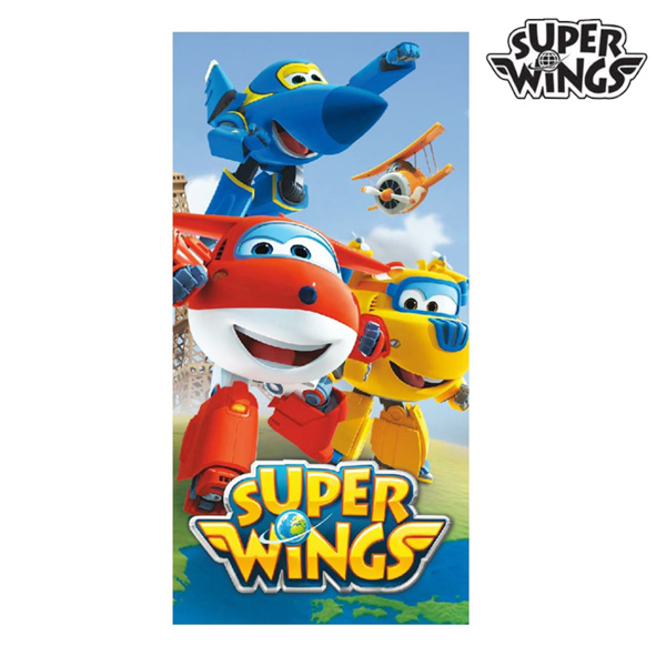 Kék Super Wings Strandtörölköző