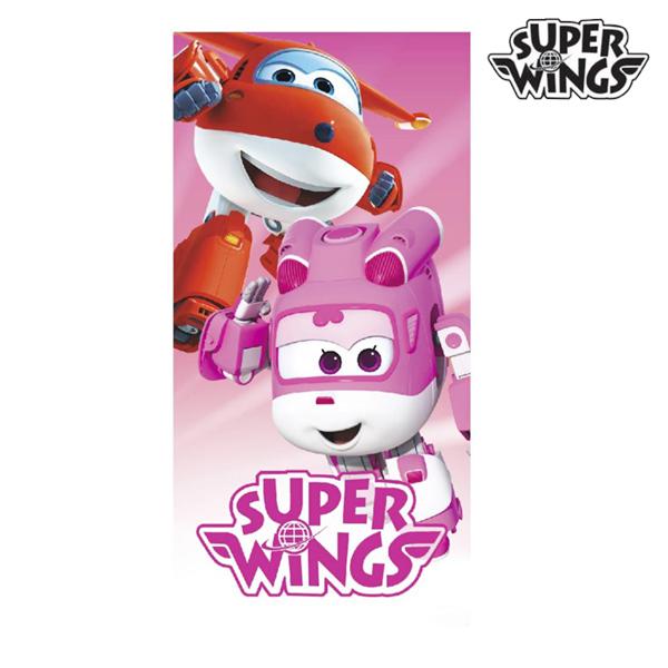 Rózsaszín Super Wings Strandtörölköző